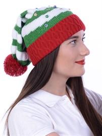 Новогодняя шапка ТД-137 мультиколор