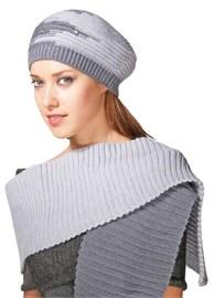 Комплект шапка и шарф ТД-170К сталь-ледяной