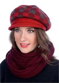 Женская трикотажная кепка Д-470/2 красная от Сиринга-стиль