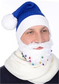 Новогодняя шапка Деда МорозаТД-332/11 синяя