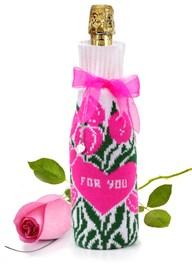 """Сувенирный чехол на бутылку ТД-414/22 """"For you"""" Сиринга-стиль"""