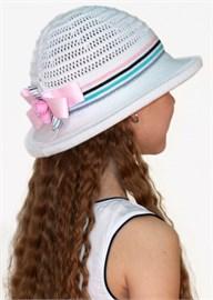 Шляпка детская летняя Дети/ТЛ-42 белый-розовый-бирюза Сиринга-стиль