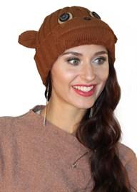 Вязаная шапка ТД-397 шоколад